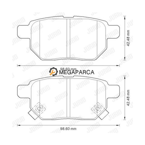 Toyota Auris 2007-2012 Arka Fren Balatası