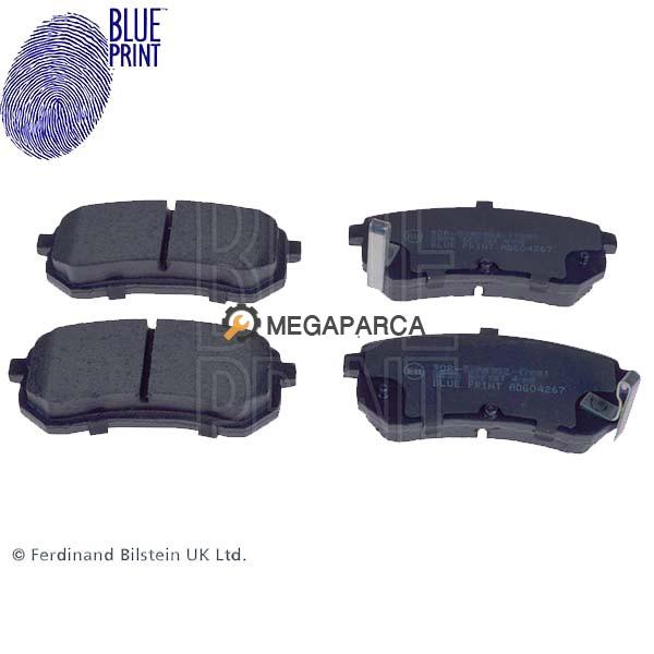 Hyundai i10 2008-2012 Arka Fren Balatası